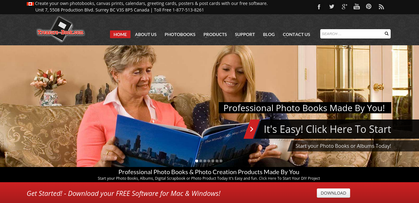 Treasure Book Homepage